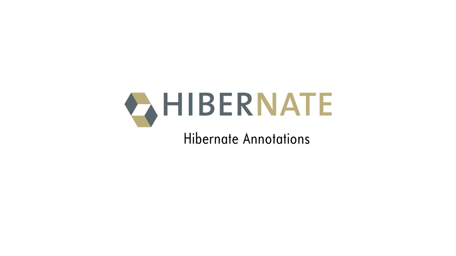 Hibernate Annotaion