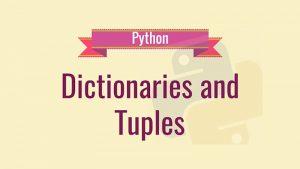 tuple & dictionary python